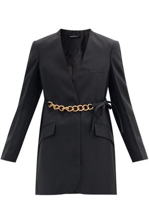 Givenchy Chain-belt Wool-crepe Suit Jacket - Womens