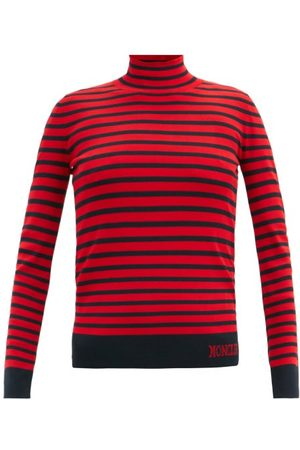 Moncler Lupetto Striped Jersey Roll-neck Sweater - Womens - Multi