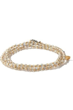 M. COHEN The Agora Light Labradorite & 18kt Gold Bracelet - Mens
