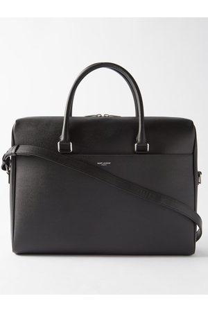 Saint Laurent Men Laptop Bags - Grained-leather Briefcase - Mens