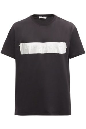 Givenchy Silver Logo-panel Cotton-jersey T-shirt - Mens