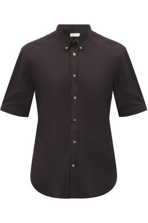 Alexander McQueen Men Casual - Button-down Cotton-blend Poplin Shirt - Mens