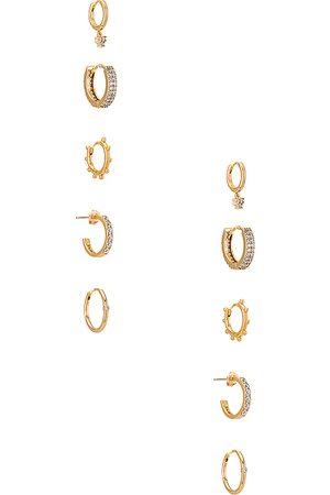 Baublebar Women Hoop - Liza 18k Vermeil Huggie Hoop Earring Set in Metallic .