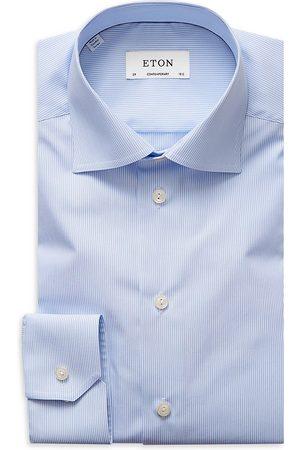 Eton Men's Comtemporary-Fit Fine Striped Dress Shirt - - Size 18.5