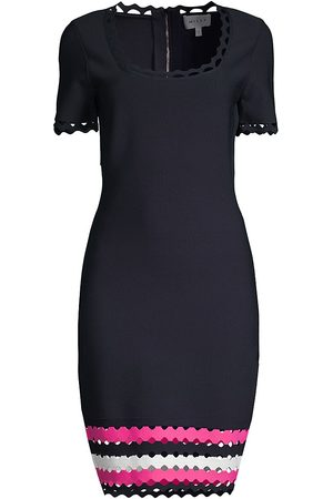 Milly Women's Geo Cut-Out Fitted Dress - - Size Large
