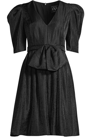 Black Halo Women's Zevi Puff-Sleeve Cocktail Dress - - Size 6