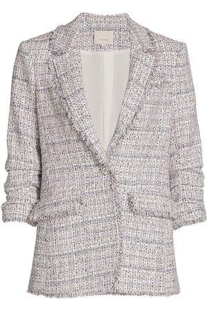 Cinq A Sept Women's Khloe Boucle Tweed Blazer - - Size 14