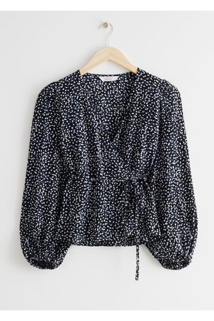 & OTHER STORIES Puff Sleeve Wrap Blouse