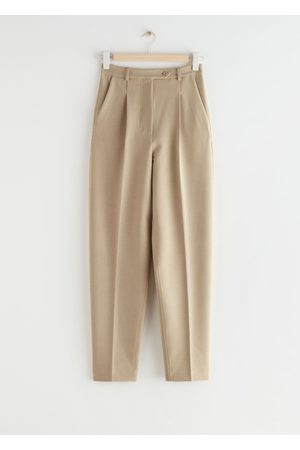 & OTHER STORIES Tapered Press Crease Trousers