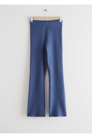 & OTHER STORIES Flared Rib Knit Trousers