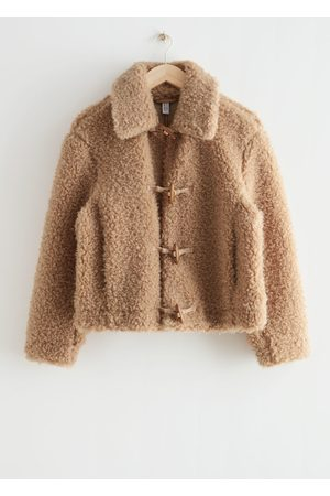 & OTHER STORIES Fluffy Faux Shearling Jacket