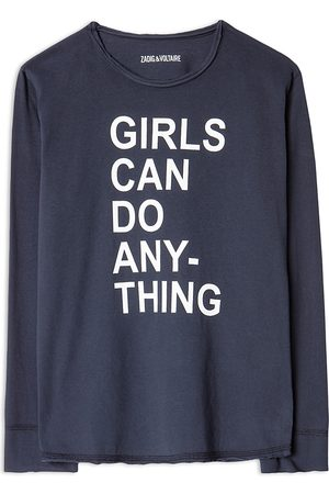 Zadig & Voltaire Girls' Anie Cotton Graphic Long Sleeve Tee - Little Kid, Big Kid