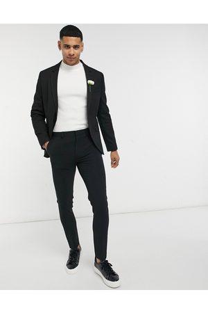 ASOS Wedding super skinny suit jacket in micro texture