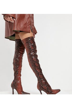 Simmi Wide Fit Simmi London Wide Fit Minar over the knee boots in snake