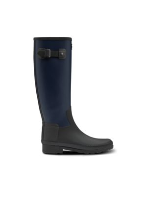 Hunter Women's Refined Texture Block Slim Fit Tall Rain Boots