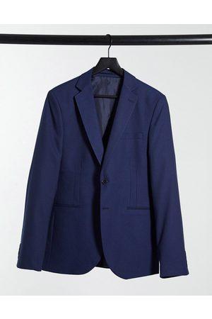 Bolongaro Plain super skinny suit jacket in navy