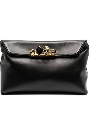 Alexander McQueen Women Clutches - Crystal-embellished ring-detail clutch bag