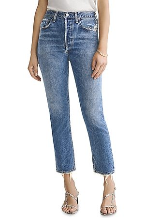 AGOLDE Riley Straight Cropped Jeans in Frequency