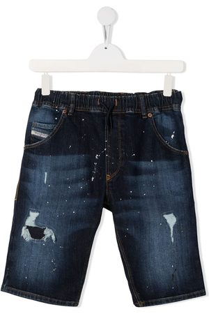 Diesel Shorts - Distressed detail denim shorts