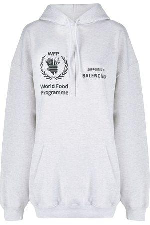 Balenciaga WFP printed hoodie - Grey