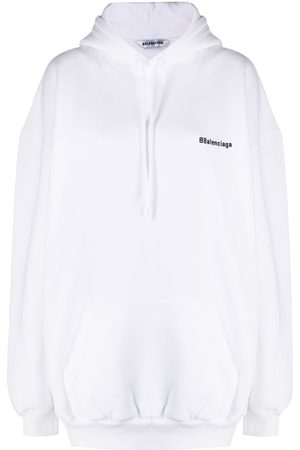 Balenciaga Women Hoodies - Logo print hoodie