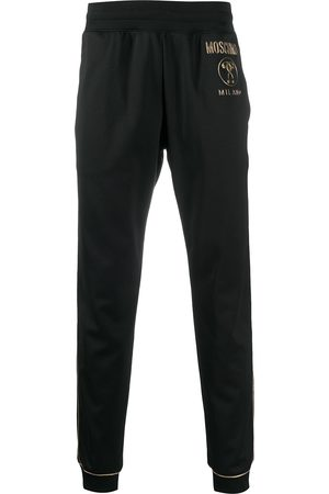 Moschino Men Sweatpants - Logo plaque track pants