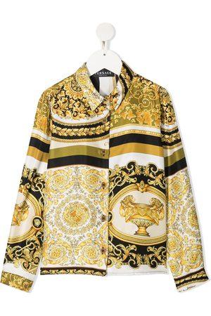 VERSACE Barocco-print silk shirt