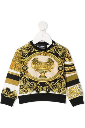 VERSACE Hoodies - Barocco-print sweatshirt