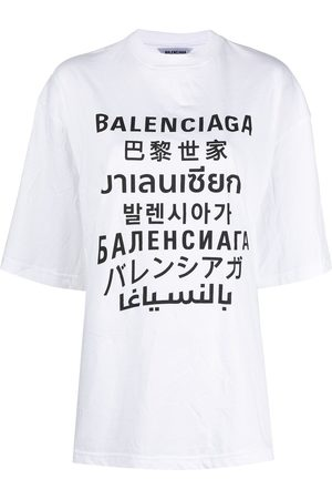 Balenciaga Women T-shirts - Languages XL T-shirt