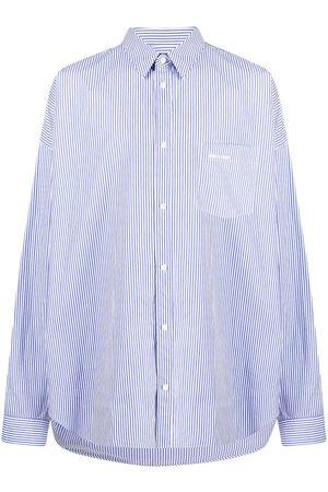 Balenciaga Cocoon oversized striped shirt