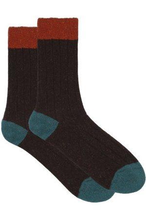 Pantherella Men Socks - Thornham Ribbed Socks - Mens - Dark