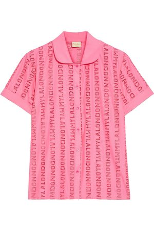 MYLA Woman Brook Street Broderie Anglaise Voile Pajama Shirt Size L