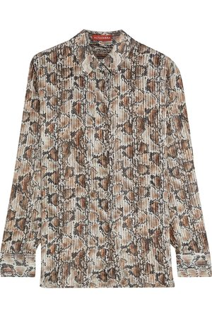 Altuzarra Woman Chica Metallic Snake-print Silk-blend Shirt Animal Print Size 36