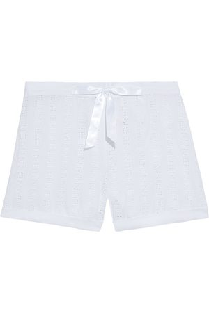 MYLA Woman Brook Street Broderie Anglaise Voile Pajama Shorts Size L