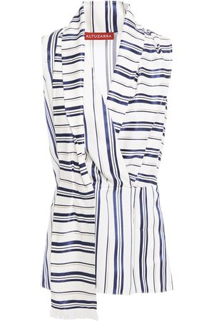 Altuzarra Woman Draped Striped Jacquard Top Size 36