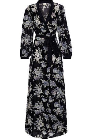 MYLA Woman Hyde Park Floral-print Devoré-velvet Robe Size M/L