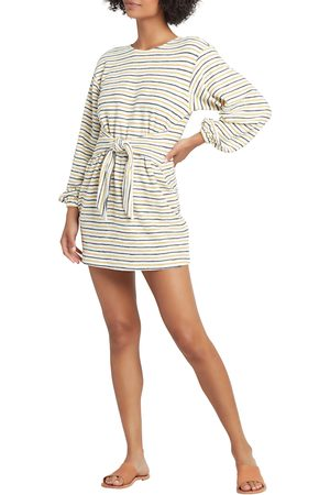 L*Space Women's Everywhere I Go Stripe Long Sleeve Tie Waist Minidress