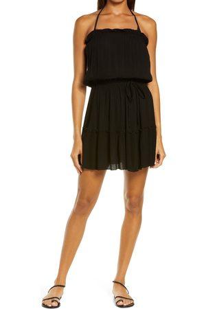 Delan Women's Ruffle Strapless Cover-Up Dress