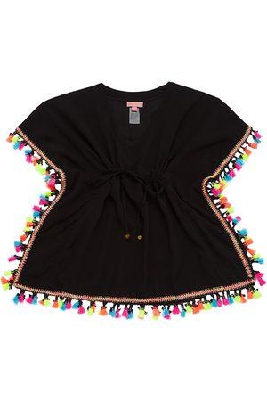 PilyQ Little Girl's & Girl's Tassel Poncho - - Size Medium (10-12)