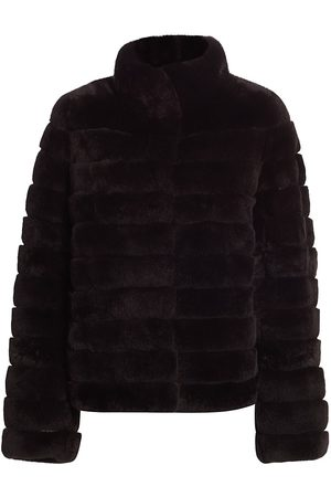 The Fur Salon Women's Julia & Stella For Sectioned Rabbit Fur Jacket - - Size Medium