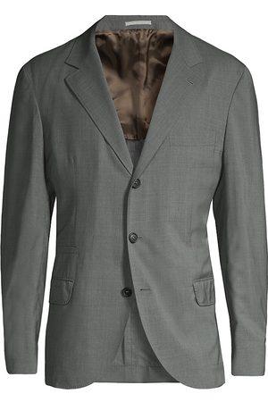 Brunello Cucinelli Men's Wool & Silk Travel Blazer - - Size 56 (46)