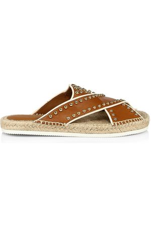 See by Chloé Women's Pia Studded Leather Espadrille Slides - - Size 40 (10) Sandals