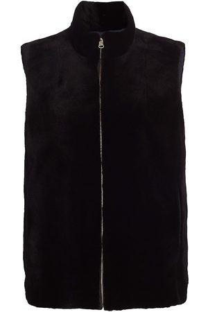 The Fur Salon Women's Sheared Mink Fur Vest - - Size Large