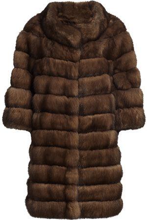 The Fur Salon Women's Long Sectioned Sable Fur Jacket - - Size Large