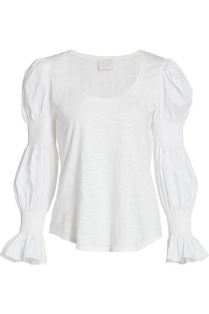 Cinq A Sept Women's Libby Puff-Sleeve Top - - Size XXS