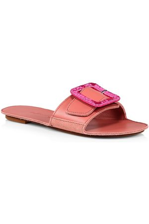 DEFINERY Women's Loop Leather Flat Sandals - - Size 40 (10)