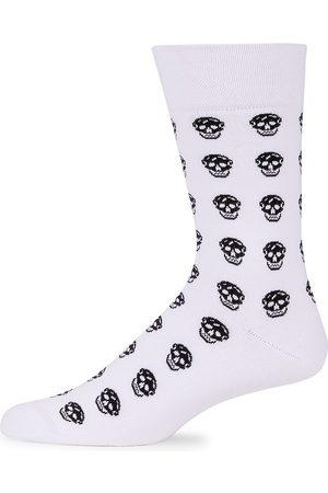 Alexander McQueen Men's Skull Logo Crew Socks - - Size Medium
