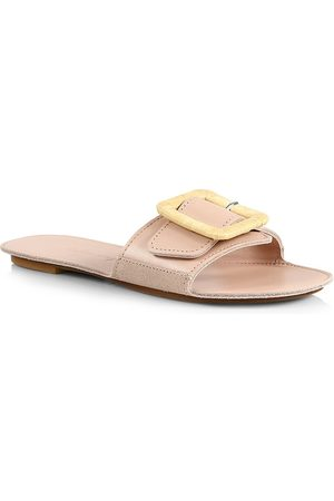 DEFINERY Women's Loop Leather Flat Sandals - - Size 36 (6)