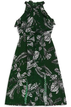 Marchesa Notte Girl's Printed Chiffon Dress - - Size 7