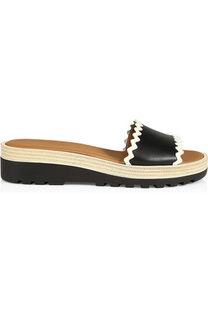 See by Chloé Women's Robin Leather Platform Wedge Slides - - Size 36 (6) Sandals